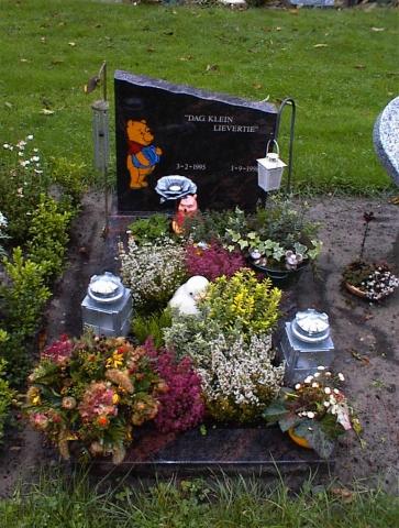 Winnie de poeh grafsteen kind